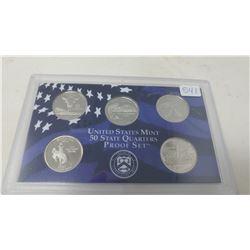 Proof set of 5 U.S. State quarters from the San Francisco Mint: 2007S Montana, Washington, Idaho, Wy