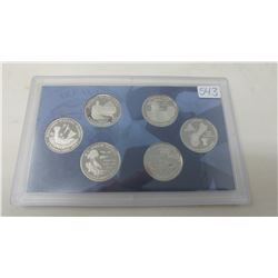 Proof set of 6 U.S. Territories quarters from the San Francisco Mint: 2009S District of Columbia, Pu