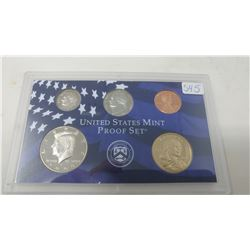 2000S Proof set of 5 U.S. coins from 1 cent to Sacagawea dollar from the San Francisco Mint.