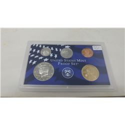 2006S Proof set of 5 U.S. coins from 1 cent to Sacagawea dollar from the San Francisco Mint.