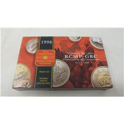 Canada 1998 8-piece Proof set that includes the 125th anniversary of the RCMP silver dollar.