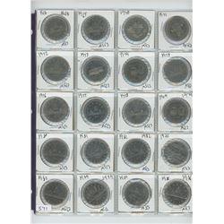 1968-1986 CANADIAN DOLLARS (20)