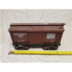 FREIGHT RAIL CAR JAMES BEAM WHISKEY BOTTLE