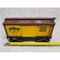 YELLOW FREIGHT CAR JAMES BEAM WHISKEY BOTTLE