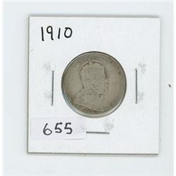 1910 CANADIAN 25 CENT