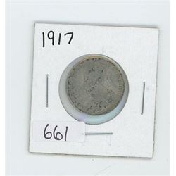 1917 CANADIAN 25 CENT
