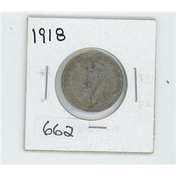 1918 CANADIAN 25 CENT