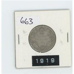 1919 CANADIAN 25 CENT