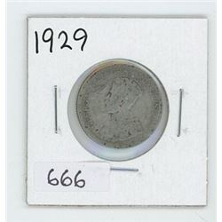1929 CANADIAN 25 CENT