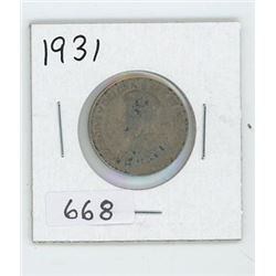 1931 CANADIAN 25 CENT