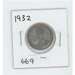 1932 CANADIAN 25 CENT