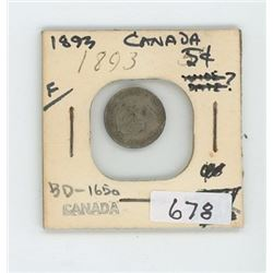 1893 CANADIAN 5 CENT
