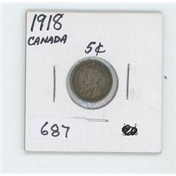 1918 CANADIAN 5 CENT