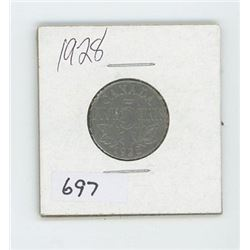 1928 CANADIAN 5 CENT