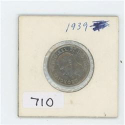 1939 CANADIAN 5 CENT