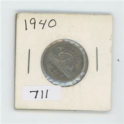 1940 CANADIAN 5 CENT
