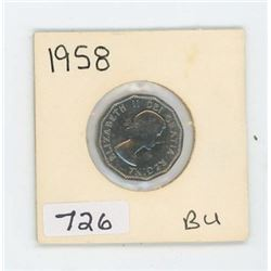 1958 CANADIAN 5 CENT