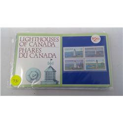 1734,1809,1808,1860 LIGHT HOUSES OF CANADA STAMPS