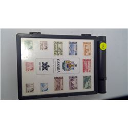 (2) 1867-1967 STAMP BOXES WITH STAMPS