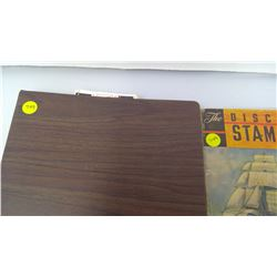 THE DISCOVERER STAMP ALBUM/BROWN CSIC/USC BINDER WITH STAMPS