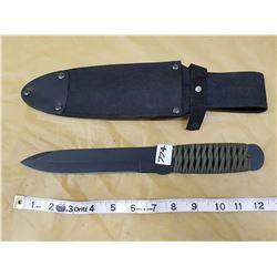 """HI-CARBON STEEL THROWING KNIFE - 6"""" BLADE"""