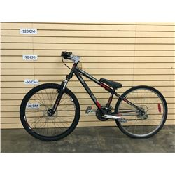 GREY TREK 820 FRONT SUSPENSION MOUNTAIN BIKE, NO BRAKES