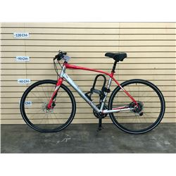 RED AND SILVER NO NAME ROAD BIKE