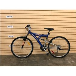 BLUE SUPERCYCLE XTI 15 DS FULL SUSPENSION KIDS MOUNTAIN BIKE