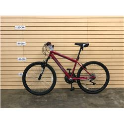 RED AVIGO DESCENT FRONT SUSPENSION KIDS MOUNTAIN BIKE