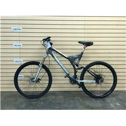 BLACK NO NAME FULL SUSPENSION MOUNTAIN BIKE WITH FRONT AND REAR HYDRAULIC DISC BRAKES