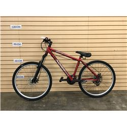 RED NORCO MOUNTAINEER FRONT SUSPENSION BIKE WITH FRONT AND REAR DISC BRAKES