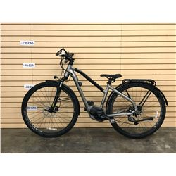 GREY BOSCH SQUARE ELECTRIC ASSIST TRAIL BIKE WITH FRONT AND REAR HYDRAULIC DISC BRAKES, NO BATTERY,