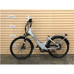 VELEE R48 ELECTRIC ASSIST CRUISER BIKE WITH FRONT AND REAR DISC BRAKES, NO BATTERY, NO KEY, NO