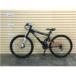 BLACK CCM STATIC XC FULL SUSPENSION MOUNTAIN BIKE WITH FRONT DISC BRAKE