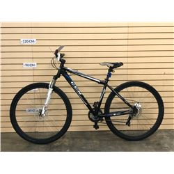 BLUE AND BLACK CCM 29ER FRONT SUSPENSION MOUNTAIN BIKE WITH REAR DISC BRAKE
