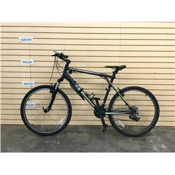 BLACK AND GREEN GT AGGRESSOR FRONT SUSPENSION MOUNTAIN BIKE