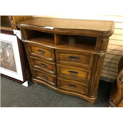 CHERRY 6 DRAWER CONSOLE UNIT