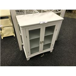 "WHITE GLASS FRONT 24"" ACCENT CABINET"