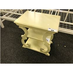 CREAM  3 TIER ACCENT TABLE