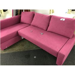 PINK SLIDE OUT SECTIONAL SOFA