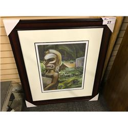 "EMILY CARR ""ZUNOQUA OF THE CAT VILLAGE"" FRAMED LIMITED EDITION PRINT, 309/950"