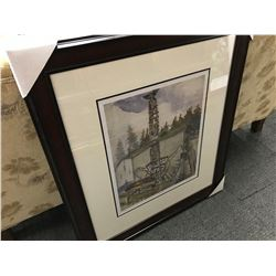 "EMILY CARR ""ALERT BAY"" FRAMED LIMITED EDITION PRINT, 325/950"
