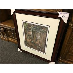 "EMILY CARR ""WOOD INTERIOR 1909"" FRAMED LIMITED EDITION PRINT, 303/950"