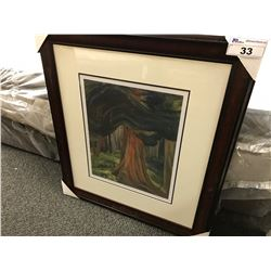 "EMILY CARR ""RED CEDAR 1931"" FRAMED LIMITED EDITION PRINT, 301/950"