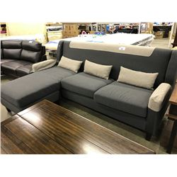 GREY 2 TONE 3 SEAT SECTIONAL SOFA