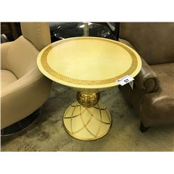 GOLD 2' ROUND ACCENT TABLE