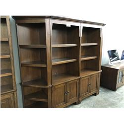 TRADITIONAL CHERRY 4 SECTION WALL UNIT WITH BRIDGE CABINET