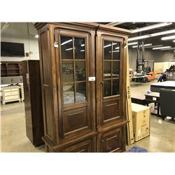 PAIR OF TRADITIONAL CHERRY 6' WALL UNITS