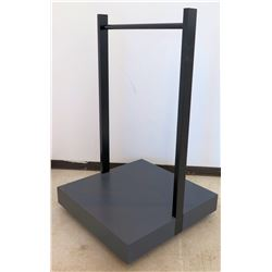 Clothing Rack w/ Rolling Base 36  x 36  x 60  H