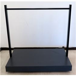 "Clothing Rack w/ Rolling Base 36"" x 60"" x 60"" H"
